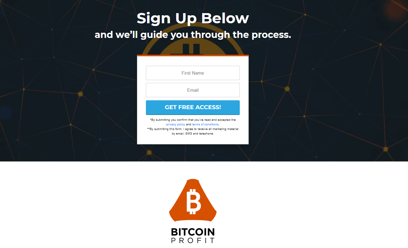 Sign Up to Bitcoin Profit