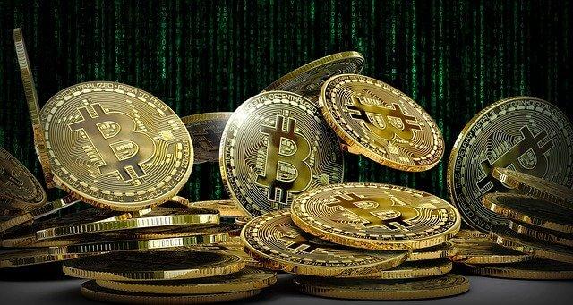 Fondo de matriz Golden Coin BTC