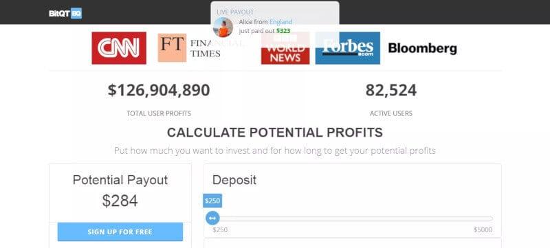 BitQT metody płatności depozyt