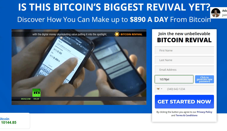 Hemsida till Bitcoin Revival