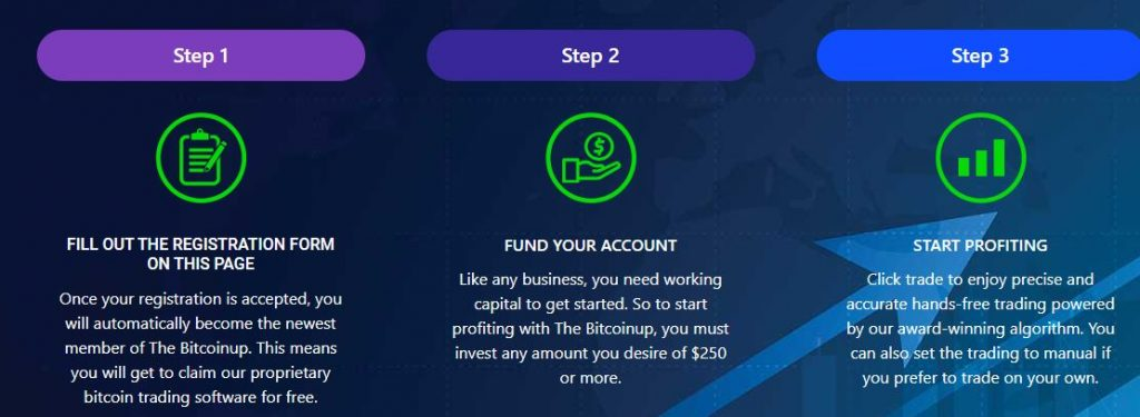 Creating a trading account on Bitcoin Up